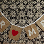Mr & Mrs wedding bunting.  Burlap / Hessian banner for wedding photo prop.
