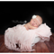 White or Ivory chiffon & pearl christening or photography prop headband