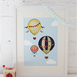 Nursery Print: Hot Air Balloon