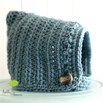 Crochet pixie hat - newborn, baby, beanie, wool