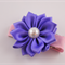 Vibrant Purple satin flower hair clip