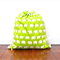 Large Drawstring / Library Bag - Green Elephant