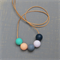 Gumball Exposed Cord Necklace - Silicone Teething Necklace