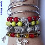 """NEFERTITI"" bracelet stack"