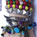 """EGYPT ON THE NILE"" bracelet stack"