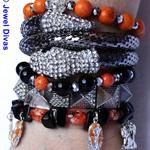"""""""PHARAOH"""" earring and bracelet stack set"""