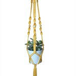 """Portsea""  Macrame Pot/Plant Hanger - You choose colour"