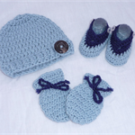 Newborn Boy Crochet Set