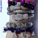 """""""EVIL EYE"""" earring and bracelet stack set"""