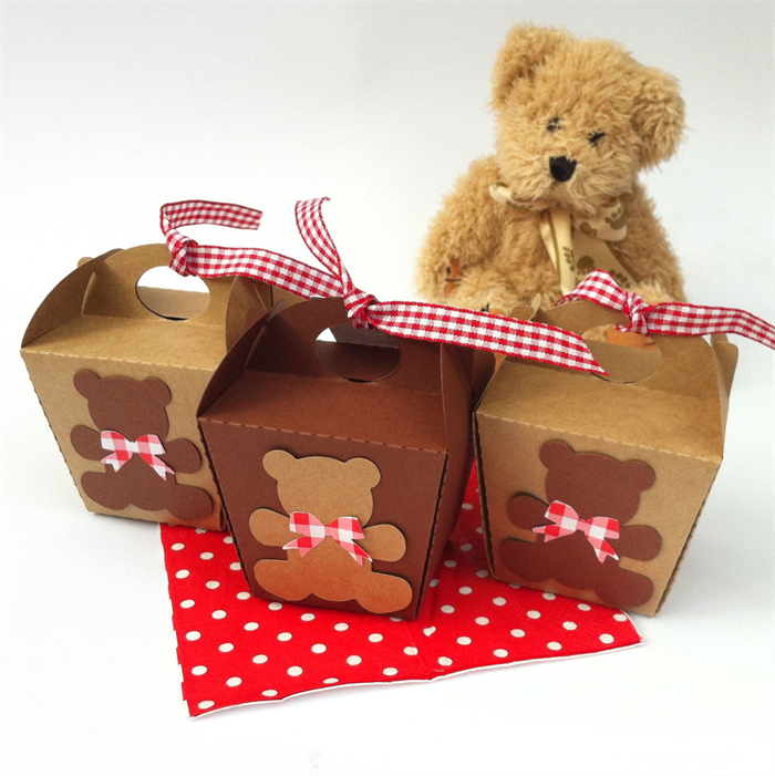 Teddy Bears Picnic Mini Gift Boxes First Birthday Party Baby
