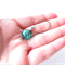 Sleepy Hollow Green glass dangle earrings by Sasha + Max Studio