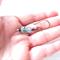 Chloe green blue Glass dangle earrings by Sasha and Max