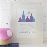 Nursery Art: Mountains