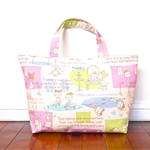 Lesson Tote Bag / Purse / Handbag - Ballerina (Pink and Natural)
