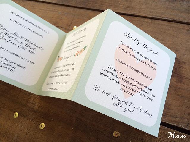 Well known Mini Mint Wedding Invitation (Accordion Style) | Misiu Papier  UV36