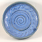 Ceramic Stoneware Blue Bowl Shallow Dish Faceted Unique Handmade Home Decor