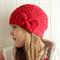 crochet beanie | girls red wool hat | size 3 - 5yrs
