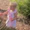 Pink Sunshine Roses flutter sleeve peasant dress