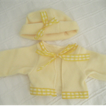Doll & Teddy Bear Clothes, Handmade Emma Fleece Jacket & Hat