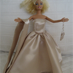 "11.5"" Doll Clothes, Handmade 'Grace' Dress, Wrap & Evening Bag"