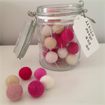 Felt Ball Garland in White, Sand, Light Pink, Pink, Berry, Hot Pink
