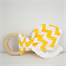 Yellow Chevron Wooden Teething Ring
