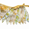 Vintage Sunshine Yellow & Lace Floral Flag Bunting.  Party Wedding Decoration