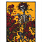 8 x 10 print Vintage Skeleton with roses