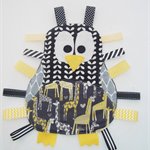 Cute penguin taggie in yellows