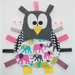 Cute penguin taggie in pinks (various to choose from)