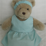 Teddy Bear Clothes, Handmade Tash Cotton Dress & Headband