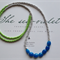 SEA FOAM ~ Chalcedony & Czech Glass LONG Beaded Necklace