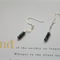 ANGEL STONE ~ Serafinite & Sterling Silver Dangle Earrings