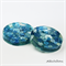 Coasters - Blue Buttons For Drinks or as a Paperweight - 2 pack - Resin