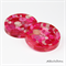 Pink Buttons Drink coffee coaster or paperweight - SINGLE - Resin