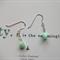 MINTIES ~ Vintage Glass Bead & Sterling Silver Chain Earrings