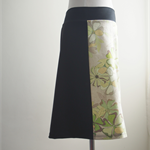 Size S Aline skirt two tone Green birds black back Wanderlust Women