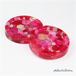 Pink Buttons Drink coffee coasters or paperweights - 2 pack - Resin
