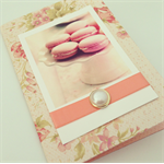 Perfect for Mothers Day Vintage Pink Macaron Polaroid Handmade Card