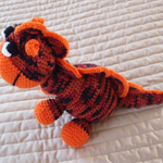 Dexter the hand crocheted dinosaur (toy)