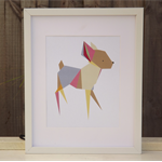 Printable Children's Wall Art Print- Baby Nursery Art- Geometric Deer- PDF FILE