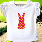 MaisyMoo Designs 'Candy Bunny' top. Sizes Newborn to 4 yrs