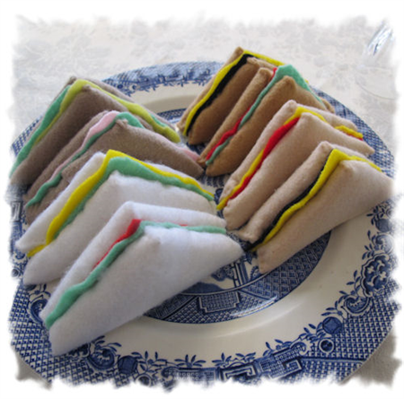 Sandwiches Felt Play Food, Toy Kitchen Accessories