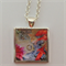 Necklace Pendant Waterlily Fishpond Art work Painting