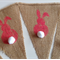 Easter bunny bunting hessian burlap decoration cute neon pink