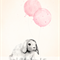 *Reserved Listing for Emma* Bunny and Light Pink Balloons - A3 Print
