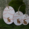 3 Bunting Kraft Bunny Tags ~ Baby Shower ~ New Baby ~ Easter Tags