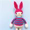 Betty the Bunny - Crochet Beanie Softie - Amigurumi Made to order