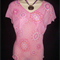 LADIES LOVELY PRETTY PINK TOP size 16