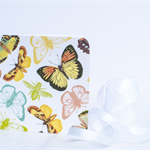 Fabric Greeting Card - Vintage Butterflies (Brown)